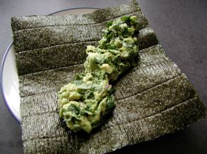 nori with guacamole