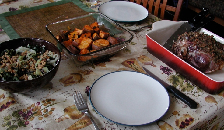 Christmas meal for two