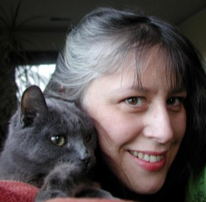 Me with the Beyond Meds kitty and my white stripe