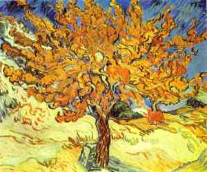Mulberry Tree, 1889, Vincent Van Gogh