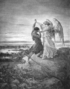 Jacob Wrestles with the Angel.