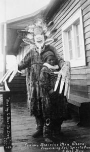 Yupik Medicine man exorcising evil spirits (photo credit wikipedia)